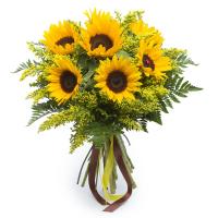 Luminoso Bouquet di Girasoli